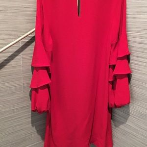 Charles Henry Ruffle Sleeve Dress